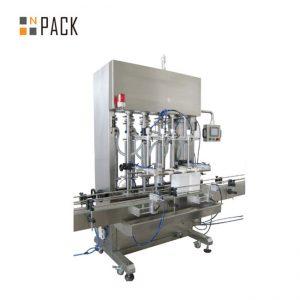 Automatyczna maszyna do napełniania pastą 500 ml-5L z 6 głowicami i systemem serwomechanizmu do śmietany z kontrolą przenośnika PLC
