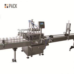 Automatyczna linia do napełniania cieczą 6,5 kW Moc 20-50 butelek / min. Pojemność