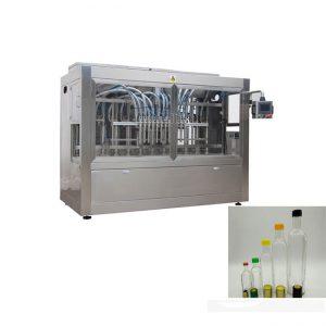 Linia do napełniania butelek z płynem z maszyną do zamykania butelek i dwustronną maszyną do etykietowania