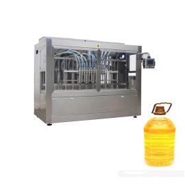 Przemysłowa automatyczna linia do napełniania płynów z tłokową maszyną do napełniania i automatyczną maszyną do etykietowania butelek