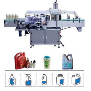 Okrągła / płaska / kwadratowa maszyna do etykietowania butelek, dwustronnie napędzana maszyna do serwonapędu