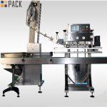 Wysoko wykwalifikowana obrotowa maszyna do zamykania butelek do butelek pestycydów 50 ml-1L 120 CPM
