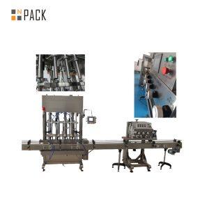 Naciśnij Push On Automatyczna maszyna do zamykania butelek 8 głowic do jadalnego oleju / talku